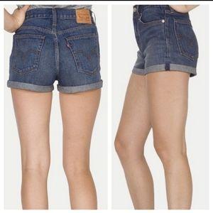 Levi's White Oak Cone Denim High Rise Shorts